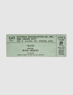 Ticket - June 29 1968 - 6pm (Thanks to Graceland)
