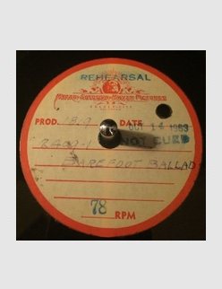 Barefoot Ballad  (unedited master) - Acetate (Thanks to Jim Cassero)