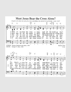 Must Jesus Bear The Cross Alone (Thanks to Christopher Brown)